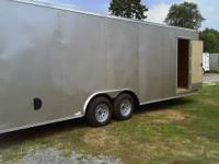 8-1/2 X24FT TRAILER BRAND NEW V-NOSE RAMP DOOR SIDE