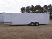 2012 MTI 7x29 aluminum enclosed snowmobile trailer is