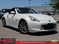 Clean CARFAX. Pearl White 2012 Nissan 370Z RWD 7-Speed