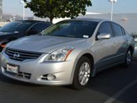 Clean CARFAX. Silver 2012 Nissan Altima 2.5 S FWD CVT