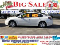 2012 NISSAN ALTIMA 2.5 S 4CYL,AUTO,CALL  24HR  - $6975