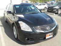 Clean CARFAX. Super Black 2012 Nissan Altima 3.5 SR FWD