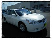New Arrival. This Pearl 2012 Nissan Altima is powered