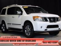 2012 Nissan Armada Platinum in Blizzard and One Owner