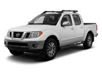 2012 NISSAN FRONTIER PRO 4X IN AVALANCHE WHITE!!