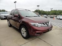 We are excited to offer this 2012 Nissan Murano. Only