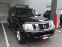 Clean CARFAX. Super Black 2012 Nissan Pathfinder SV 4WD