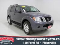 Tried-and-true.... this 2012 Nissan Pathfinder SV packs