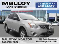New Price! Brilliant Silver 2012 Nissan Rogue S AWD