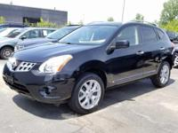 Clean CARFAX. Super Black 2012 Nissan Rogue SL AWD CVT