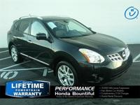 2012 Nissan Rogue SL Super Black 2.5L I4 DOHC 16V AWD,