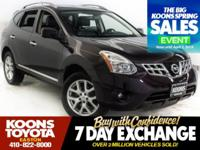 2013 NISSAN ROGUE SV IN PURPLE, ALL WHEEL DRIVE, LOW
