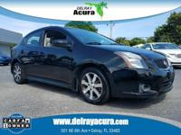 CARFAX One-Owner. Super Black 2012 Nissan Sentra 2.0