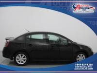 This is a 2012 Nissan Sentra 2.0 that is Super Black on