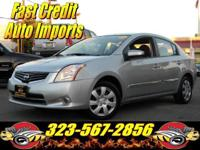 2012 NISSAN SENTRA S. LOW MILES, 1 OWNER, AC, CD, GAS