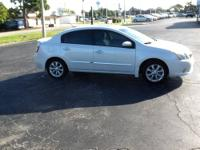 This 2012 Nissan Sentra SL pkg in white is a One owner