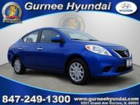 CARFAX One-Owner. 2012 Nissan Versa 1.6 SV Blue ABS