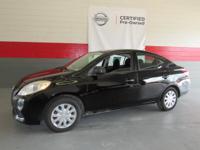 Options:  2012 Nissan Versa 4Dr Sdn Cvt 1.6 S|Certified