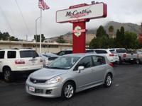 Options:  2012 Nissan Versa Sl|Carfax One-Owner. Silver