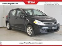 2012 Nissan Versa 1.8 S in Super Black! With these