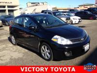 2012 Nissan Versa 1.8 SL in Black starred featured