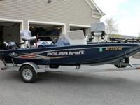 2012 Polar Kraft Bass boat, trailer, and