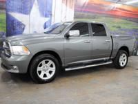 *Rule the roads in this mineral gray metallic 2012 Ram