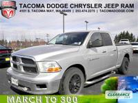Get down the road in this dependable 2012 RAM 1500 SLT,