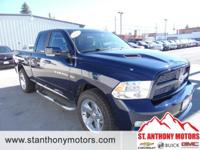 This 2012 Ram 1500 has a 5.7 liter 8 Cylinder Engine