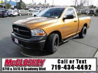 Powerful Ram truck with handy compartments and cargo