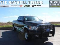 2012 RAM 3500 LARAMIE 4X4 IN BLACK CLEARCOAT!! MAXWELL
