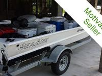 This 2012 Sea Ark 1652 Crappie is in LIKE NEW/MINT