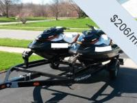 - Stock #080261 - Two 2012 SeaDoo GTI SE 155 with 24