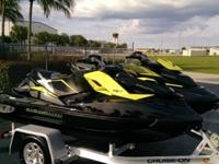 2012 SEADOO RXT-X & RXP-X PAIRONLY 7&14 HOURSLIKE NEW