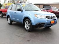 Clean CARFAX. This 2012 Subaru Forester 2.5X in Sky