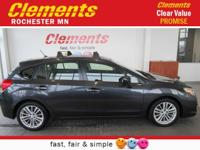 Options:  2012 Subaru Impreza Wagon 5Dr Auto 2.0I
