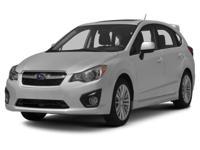 Options:  2012 Subaru Impreza 2.0I Sport Premium Our