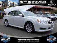 2012 Subaru Legacy 2.5i Limited, AWD, Satin White