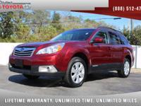 2012 Subaru Outback 2.5i AWD, *** 1 OWNER *** CLEAN