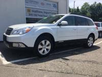 Satin White Pearl 2012 Subaru Outback 3.6R Limited AWD