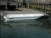 The K16T has tiller design with a bench seat aft and a