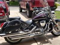 Suzuki Boulevard C50T. She just turned 10,000 miles and
