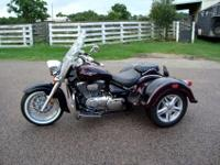 This is a beautiful Suzuki Boulevard C50T cruiser with