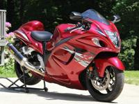 2012 Limited edition candy pearl red Suzuki GSXR 1300