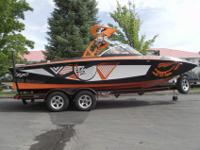 This orange and black 2012 Tige RZ2 is a head turner.