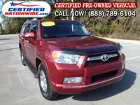 ONE OWNER - LOW LOW MILES! This 2012 Toyota 4Runner is