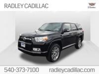 Clean CARFAX. 2012 Toyota 4Runner Limited Limited Black