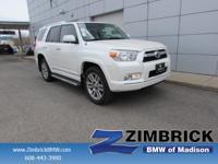 Options:  2012 Toyota 4Runner 4Wd 4Dr V6 Limited