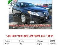 2012 Toyota Avalon Base 4dr Sdn Sedan Black V6 3.5L Gas