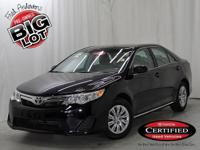 Camry LE, Toyota Certified, Attitude Black Metallic,
